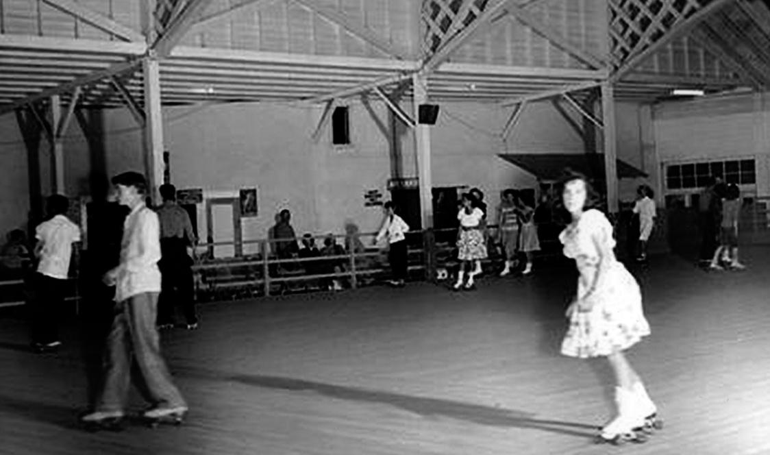 Redondo Beach Skateland replaced Hippodrome roller rink in 1950's. (Photo: Galen Hunter)