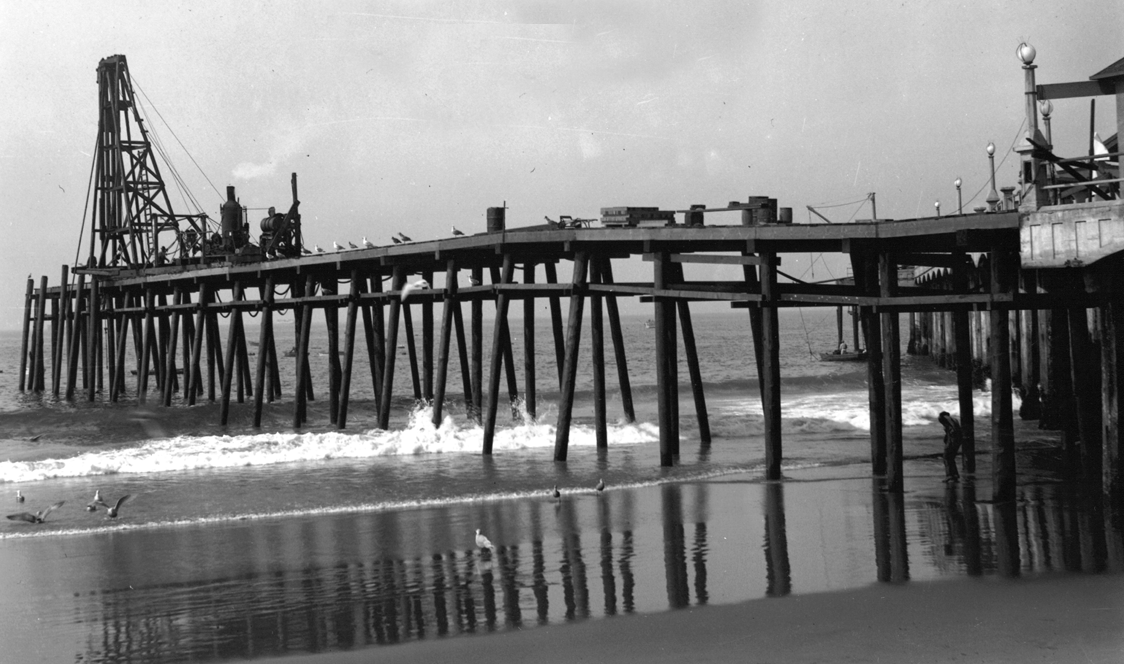 Monstad Pier, built 1925-1927.  A portion of the original fishing pier still exists today.